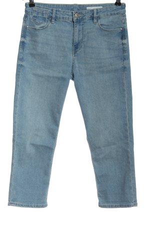 edc Jeansy 3/4 niebieski W stylu casual