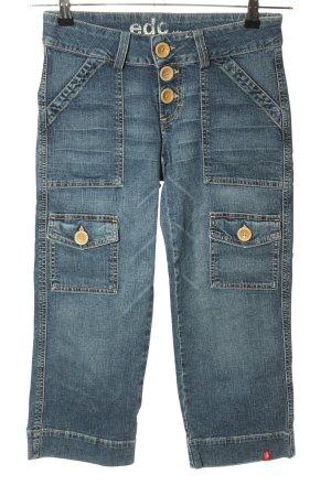 edc Jeansy 7/8 niebieski W stylu casual