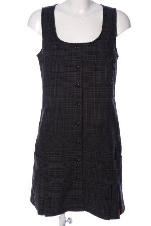 edc A-Linien Kleid schwarz-hellgrau Allover-Druck Business-Look