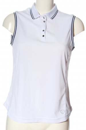 edc Polo Top white-black striped pattern casual look