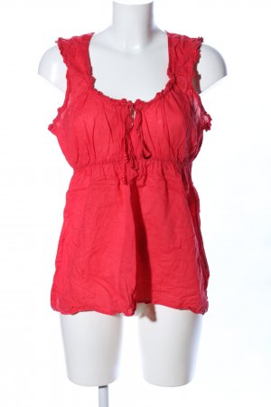 edc ärmellose Bluse rot Casual-Look