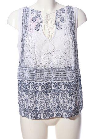 edc Sleeveless Blouse blue-white allover print casual look