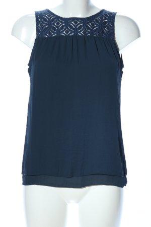 edc Blusa sin mangas azul look casual