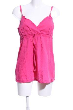edc ärmellose Bluse pink Casual-Look