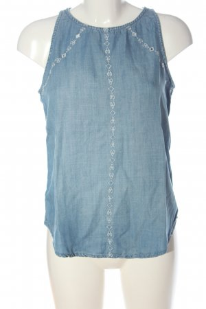 edc ärmellose Bluse blau Casual-Look