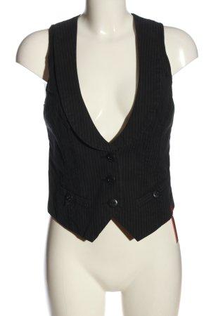 edc Waistcoat black-light grey striped pattern business style