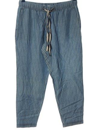 edc Baggy Pants blau-weiß Casual-Look