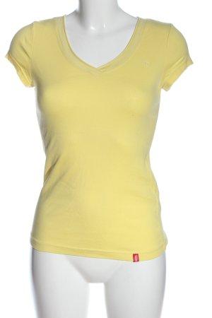 edc Basic-Shirt blassgelb Casual-Look