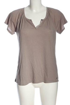 edc Basic-Shirt braun Casual-Look