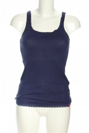 edc Basic Top blau Casual-Look