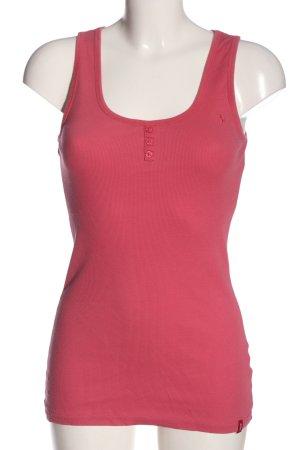 edc Haut basique rose motif rayé style décontracté