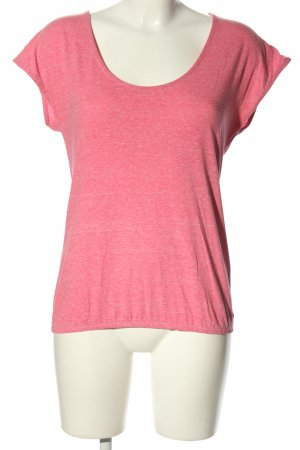 edc Basic Top pink meliert Casual-Look