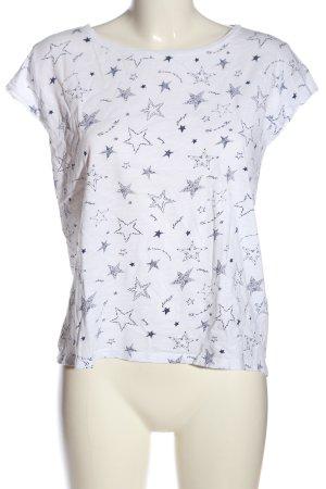 edc Batik Shirt white-blue themed print casual look