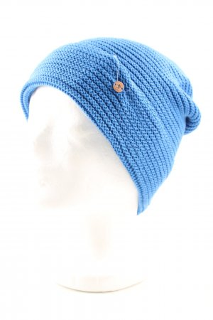 edc Beanie blue cable stitch casual look