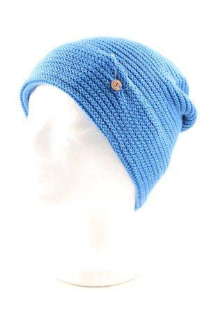 edc Bonnet bleu torsades style décontracté