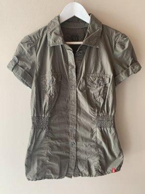 Edc Bluse dunkelgrün Khaki