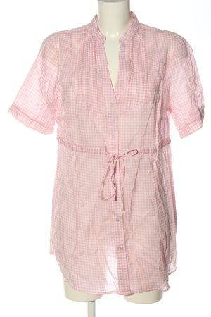 edc Blusenkleid pink-weiß Allover-Druck Casual-Look