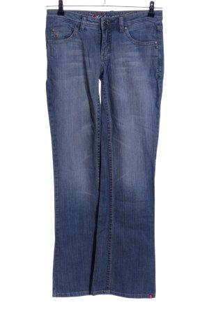 edc Jeansy o kroju boot cut niebieski W stylu casual