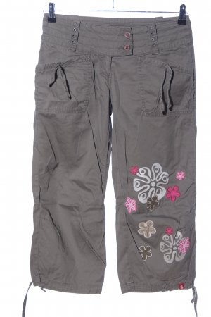 edc by Esprit 3/4 Length Trousers light grey-pink flower pattern casual look