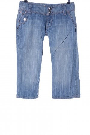 edc by Esprit 3/4 Jeans blau Streifenmuster Casual-Look