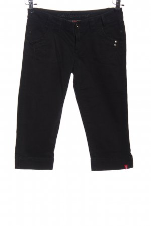 edc by Esprit 3/4-jeans zwart straat-mode uitstraling