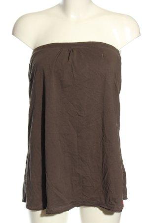 edc by Esprit Top z dekoltem typu bandeau brązowy W stylu casual