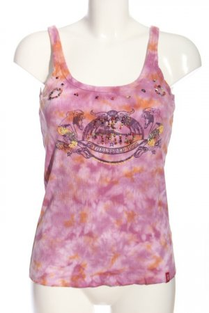 edc by Esprit Basic Top pink-light orange abstract pattern casual look