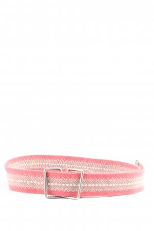 edc by Esprit Canvas riem rood-wolwit gestreept patroon casual uitstraling