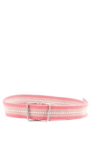 edc by Esprit Cintura in tela rosso-bianco sporco motivo a righe stile casual