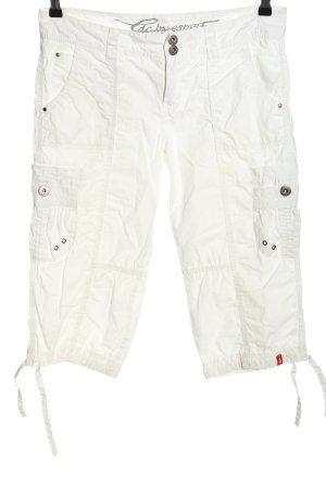 edc by Esprit Spodnie Capri biały W stylu casual