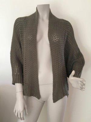 edc by Esprit Crochet Cardigan dark green-green cotton