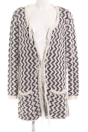 edc by Esprit Kardigan biały-czarny W stylu casual
