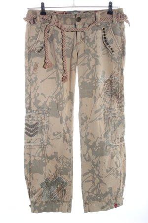 edc by Esprit Cargohose creme-khaki Camouflagemuster Casual-Look