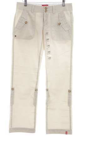edc by Esprit Cargohose creme Allover-Druck Casual-Look