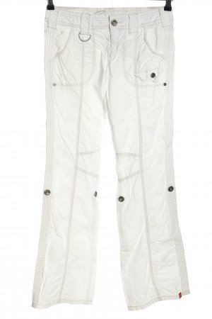 edc by Esprit Pantalone cargo bianco stile casual