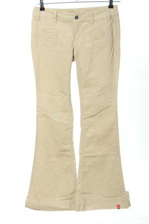 edc by Esprit Spodnie sztruksowe w kolorze białej wełny W stylu casual
