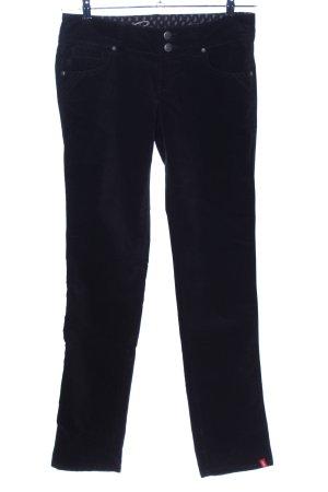 edc by Esprit Pantalon en velours côtelé noir style décontracté