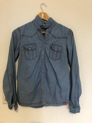 edc by Esprit Blouse en jean bleu acier-bleuet