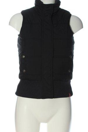 edc by Esprit Gilet en duvet noir motif de courtepointe style décontracté