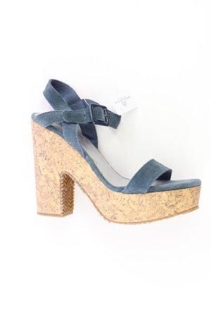 edc by Esprit Platform High-Heeled Sandal dark blue-steel blue leather
