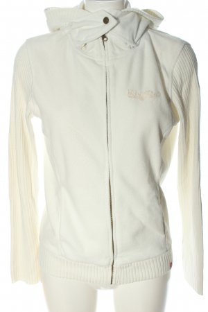 edc by Esprit Fleece Jackets natural white themed print casual look