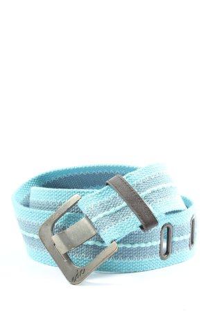 edc by Esprit Hebilla del cinturón turquesa-gris claro estampado a rayas
