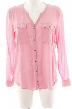 edc by Esprit Hemd-Bluse rosa Business-Look