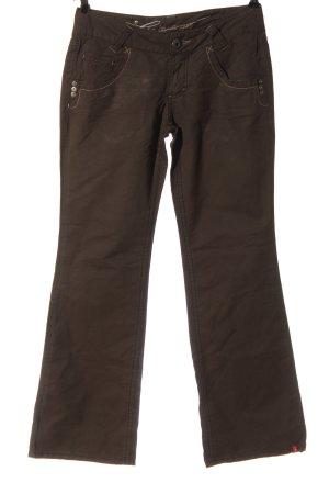 edc by Esprit pantalón de cintura baja marrón look casual