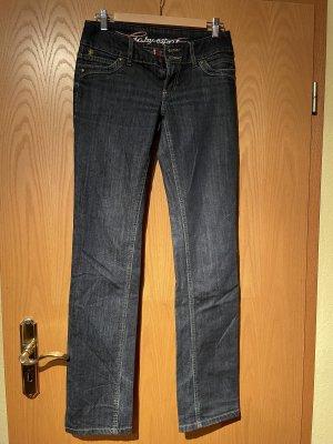 edc by Esprit Jeansy z prostymi nogawkami ciemnoniebieski-niebieski