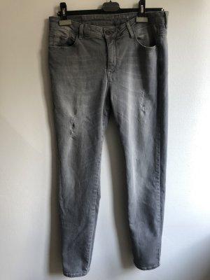 edc by Esprit Tube jeans lichtgrijs-grijs