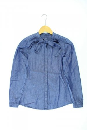 edc by Esprit Denim Blouse blue-neon blue-dark blue-azure cotton