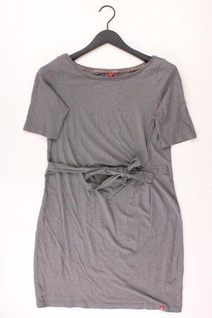 edc by Esprit Jerseykleid Größe M mit Gürtel Kurzarm grau aus Viskose