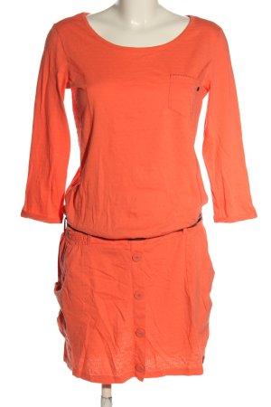 edc by Esprit Vestido de tela de jersey naranja claro look casual