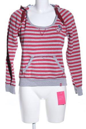 edc by Esprit Hooded Sweatshirt red-light grey flecked casual look